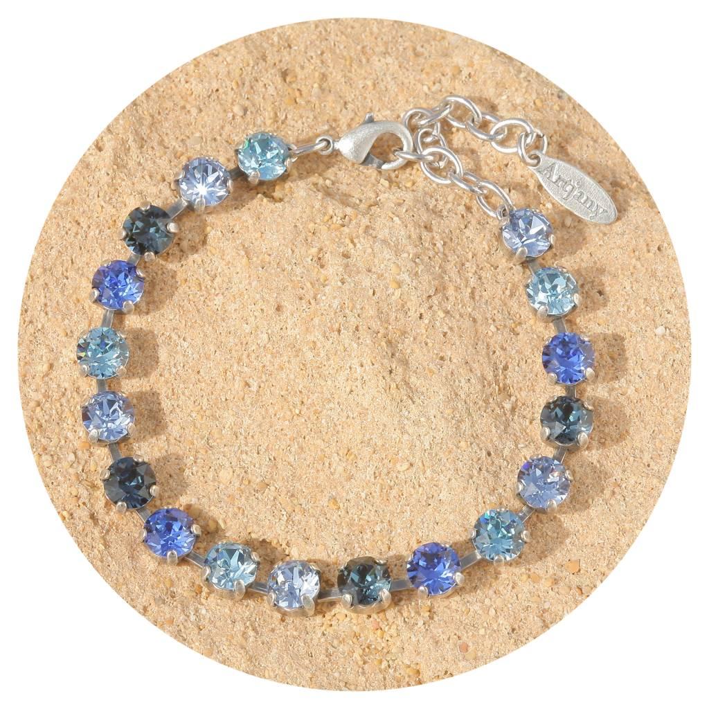 artjany Armband mit Kristallen im Blau Mix