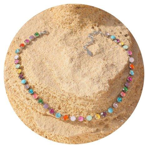artjany Collier mit crystals in bunten Sommerfarben