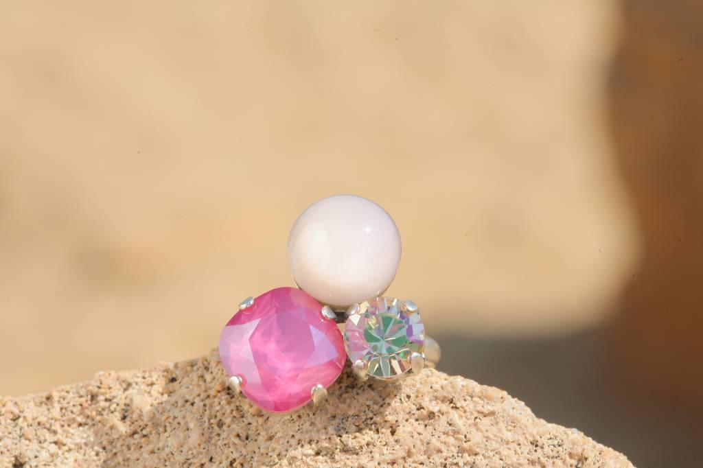 artjany Ring mit crystals im peony nude mix