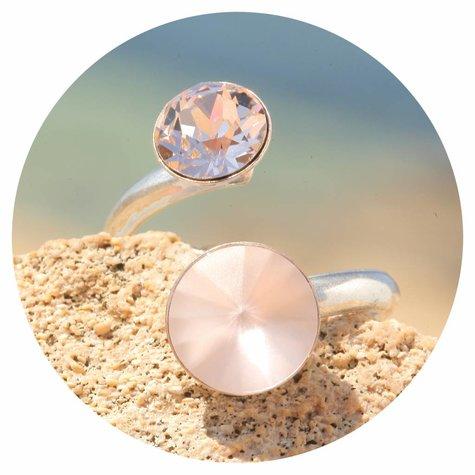 artjany Ring mit crystals in vintage rose