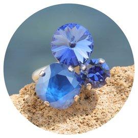 R-ZVS47 sapphire blue mix