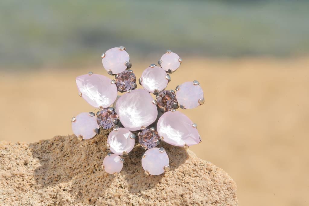 artjany Ring mit crystals in powder rose mix