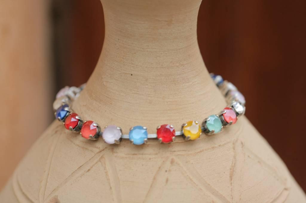 artjany Armband mit Kristallen im Royal Bunt Mix