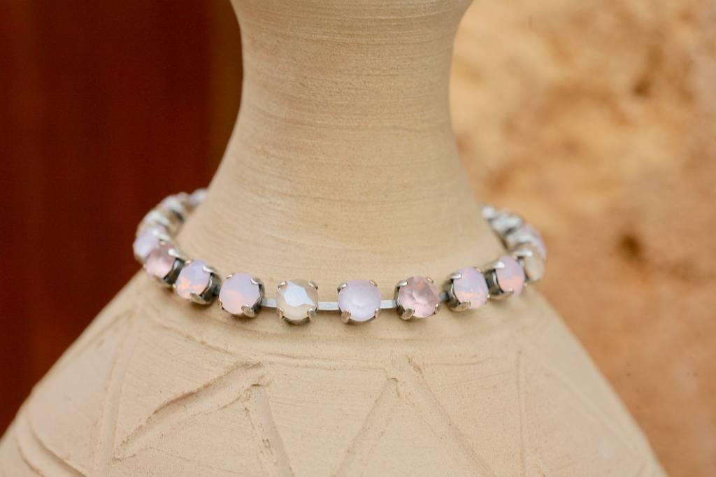 artjany Armband mit Kristallen im  ivory  rose mix