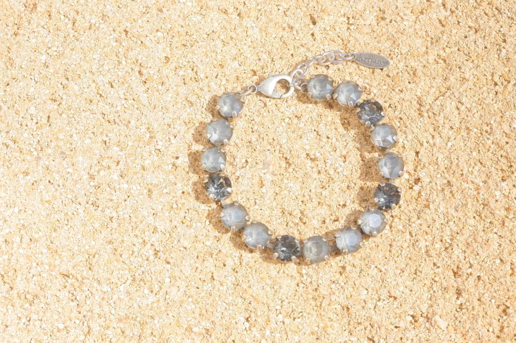 artjany Armband mit Kristallen im royal grey mix