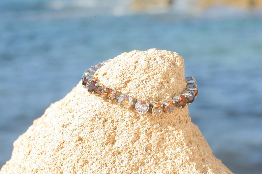 artjany Armband mit Kristallen im leo mix