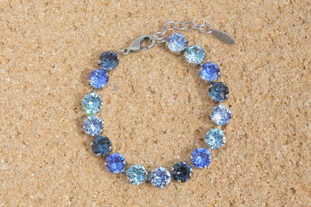 artjany Armband mit Kristallen im blau mix - Copy