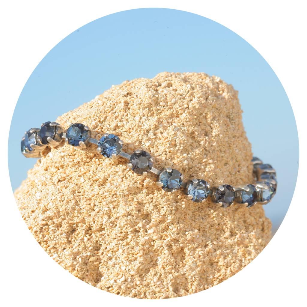 artjany Armband mit Kristallen im blau grau mix