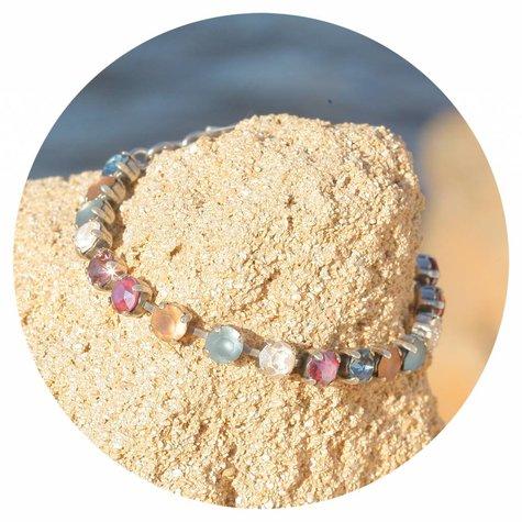 artjany Armband mit Kristallen im retro mix
