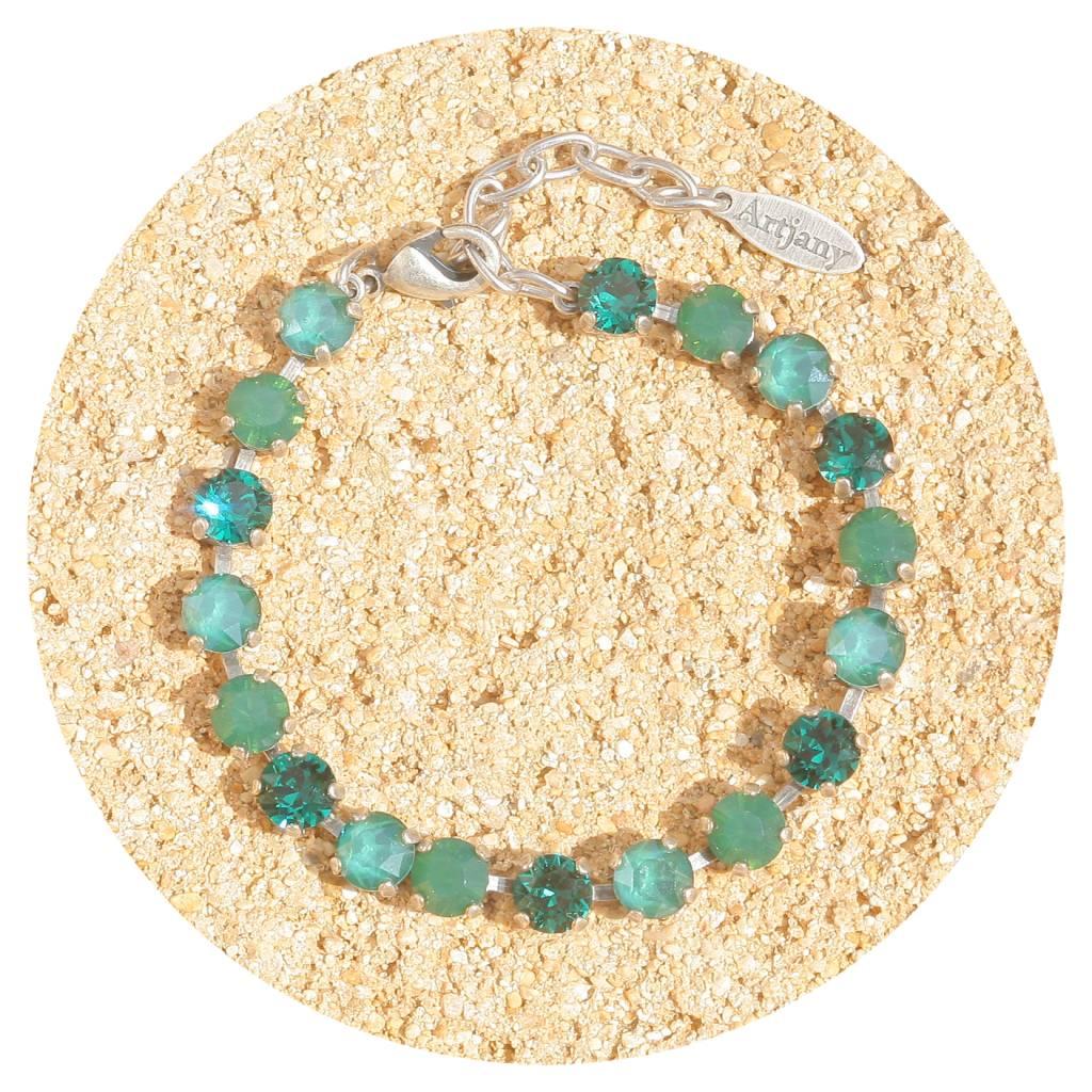 artjany Armband mit Kristallen im royal green mix