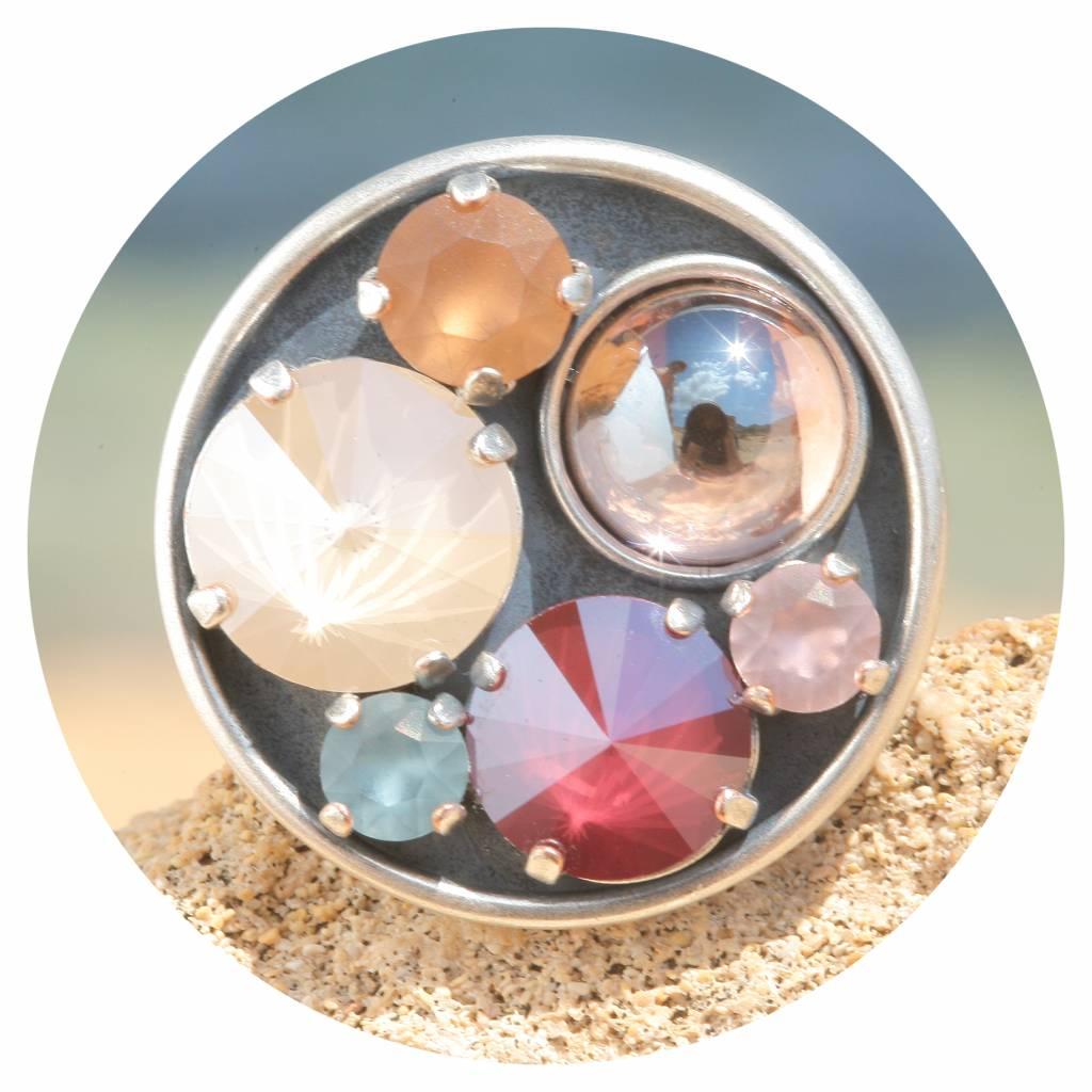 artjany Ring mit crystals im Vintage bunt mix