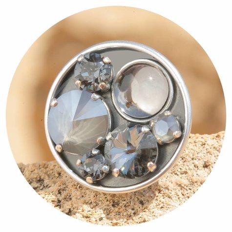 artjany Ring mit crystals im Royal Grey mix