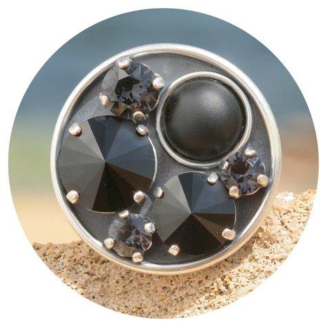 artjany Ring mit crystals im Black Jet mix - Copy