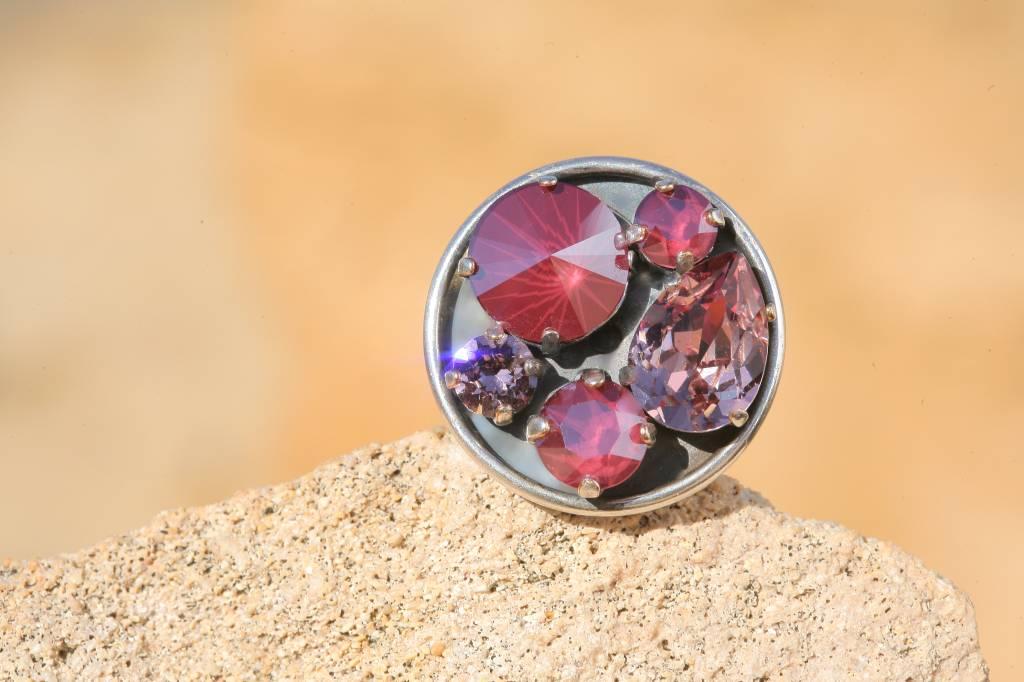 artjany Ring mit crystals im Dark red mix