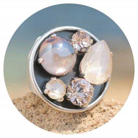 artjany Ring mit crystals im ivory silk mix