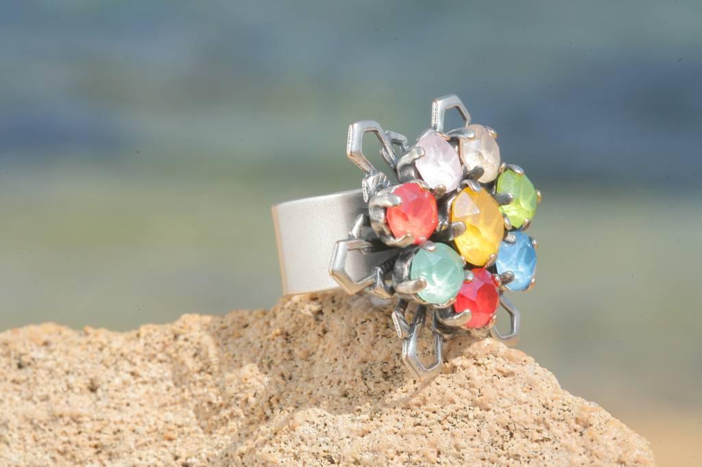 artjany Ring mit Kristallen im royal summer mix