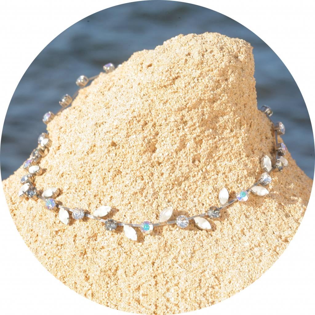 artjany Collier mit Kristallen in crystal matt mix