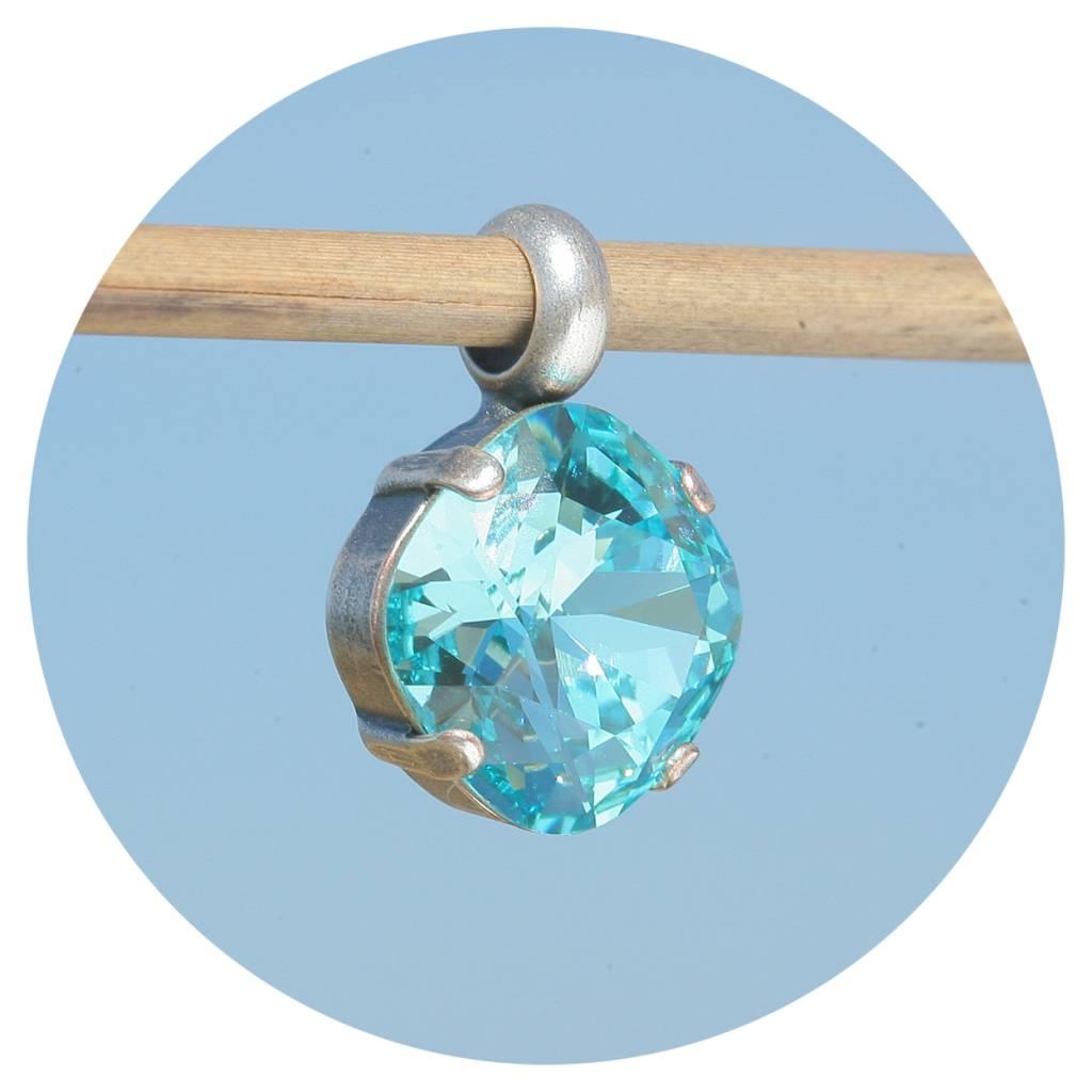 artjany Anhänger mit einem crystal in aquamarine