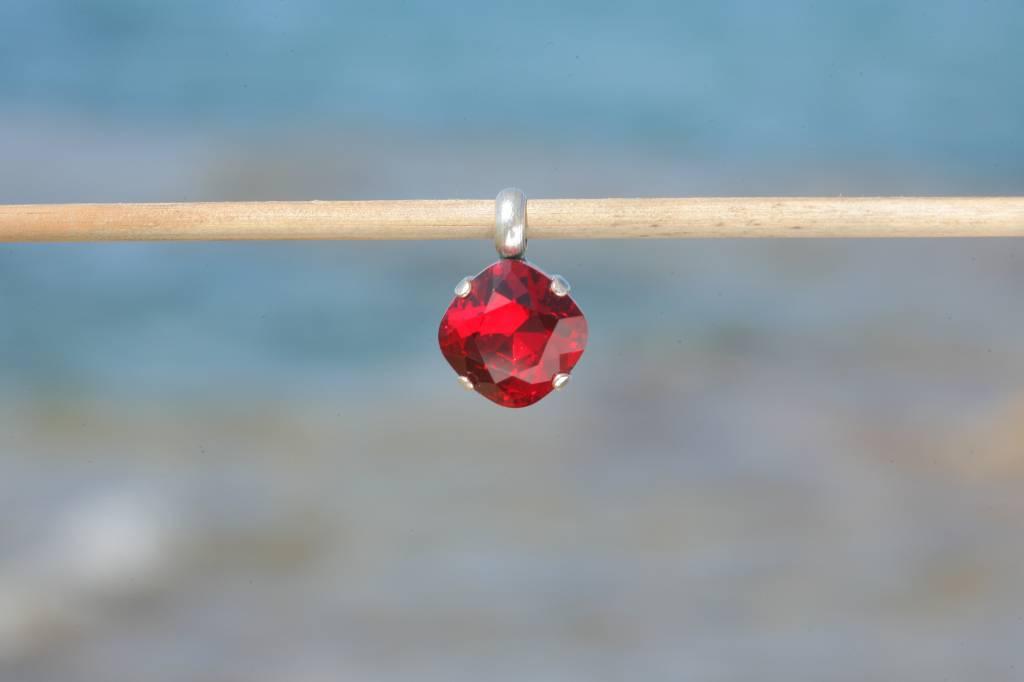 artjany Anhänger mit einem crystal in scarlet rot