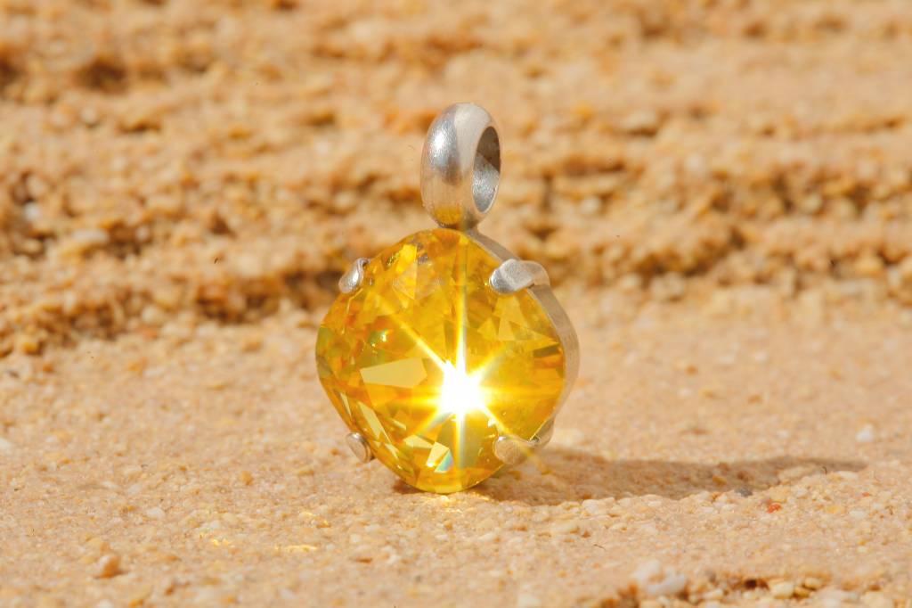 artjany Anhänger mit einem crystal in sunflower