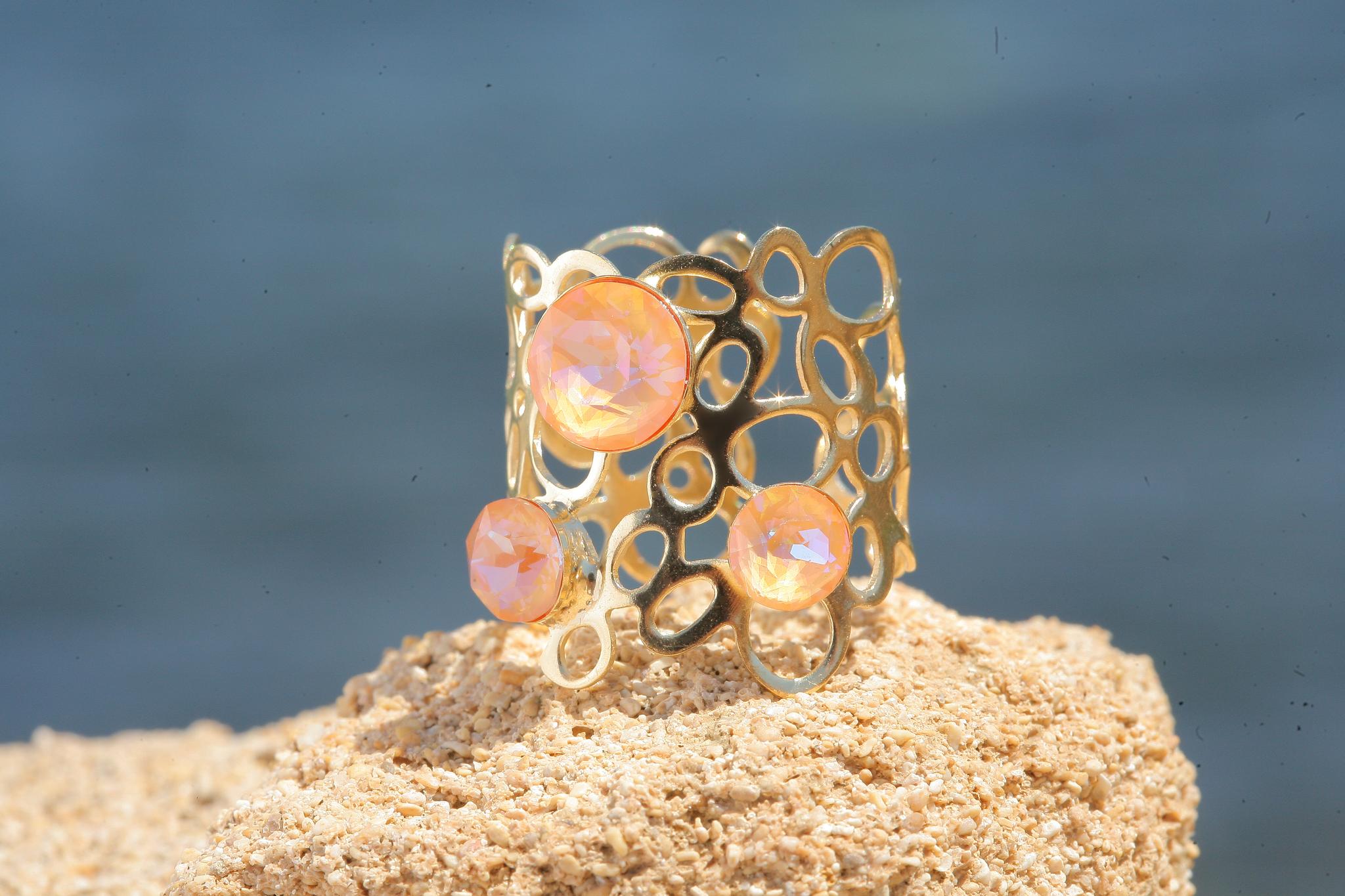 artjany goldener Ring in peach  deLite