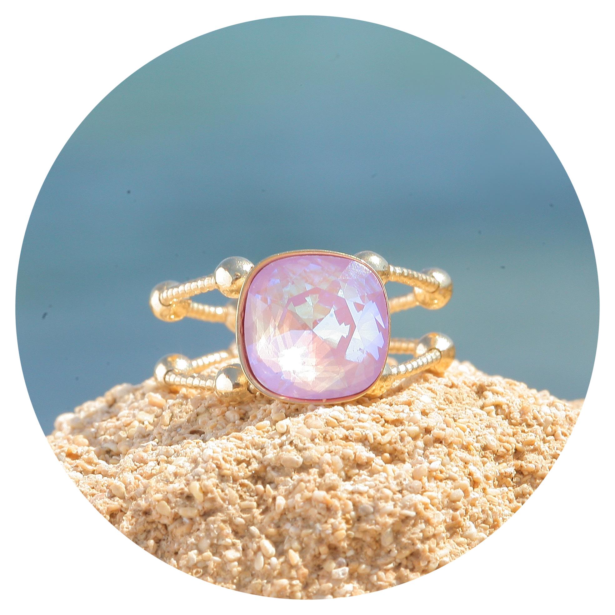 artjany goldener Ring in lavender deLite