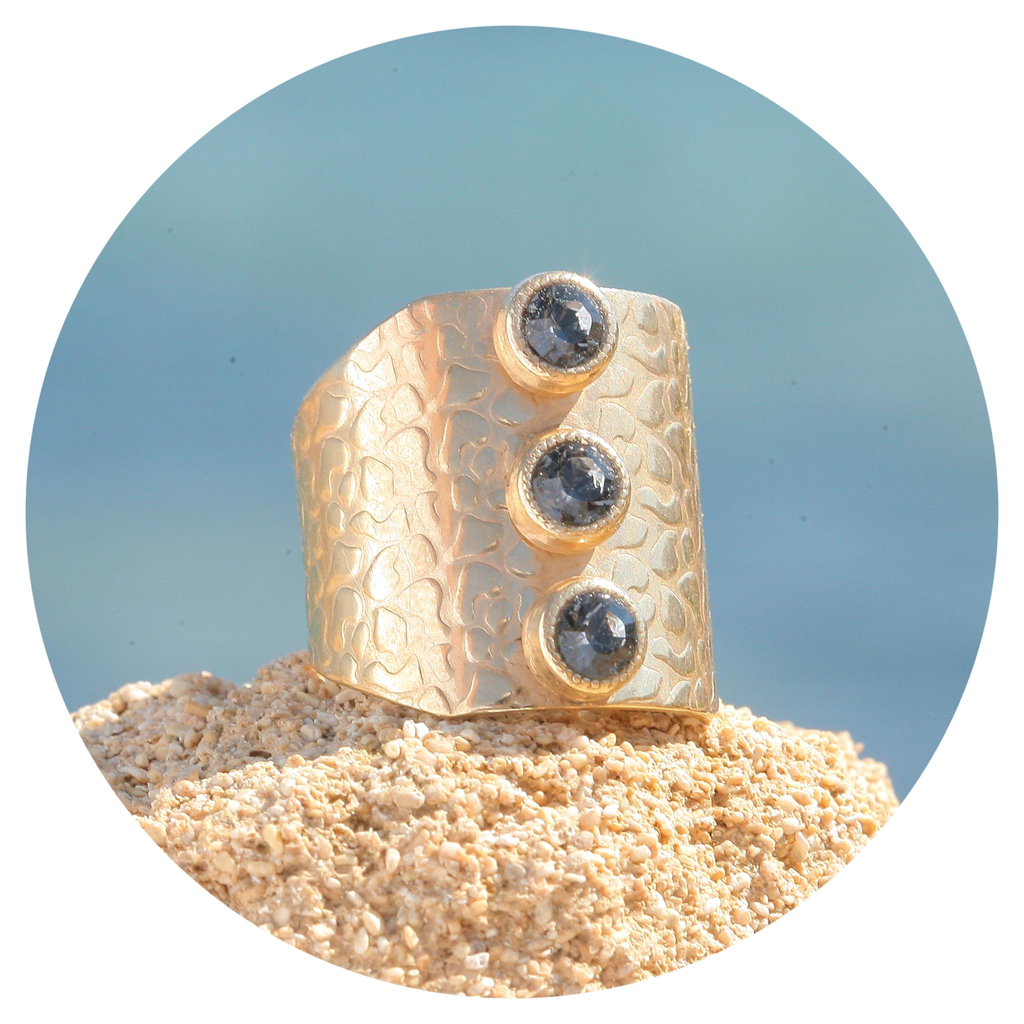 artjany goldener Ring in  silver night