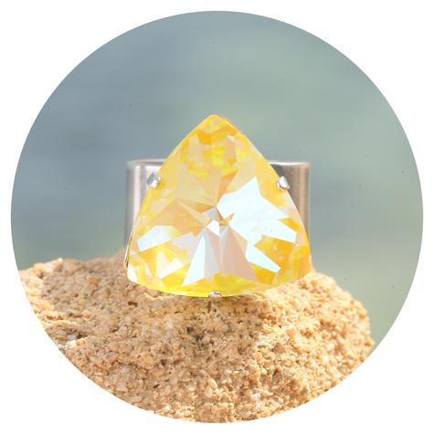 artjany Ring Kaleidoskop Triangle sunflower deLite