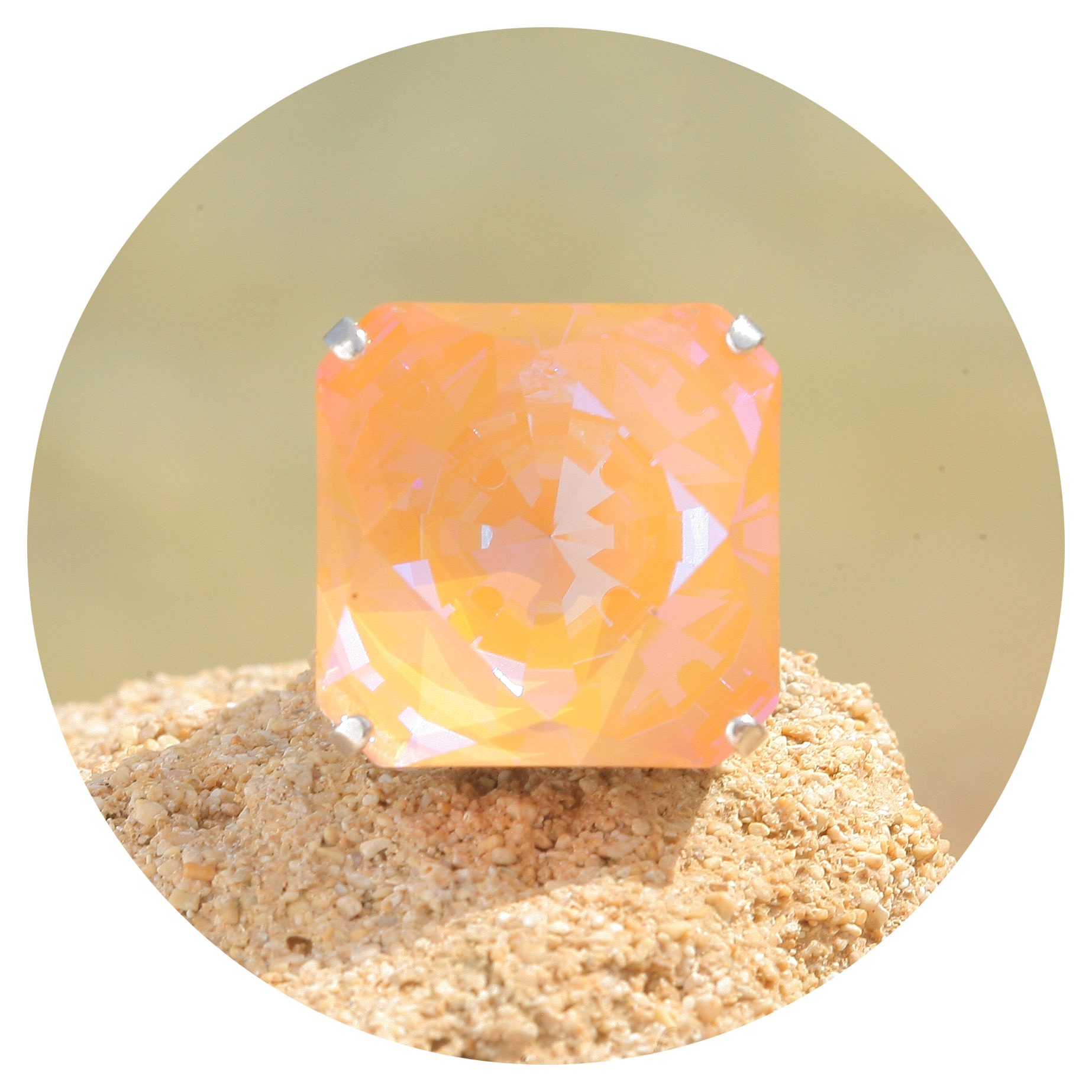 artjany Ring Kaleidoskop Square peach deLite