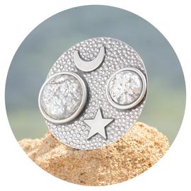 R-GAMOST Mond & Stern grau patina