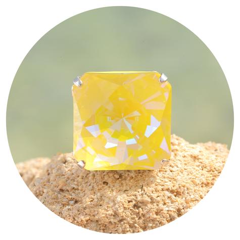 artjany Ring Kaleidoskop Square sunflower deLite