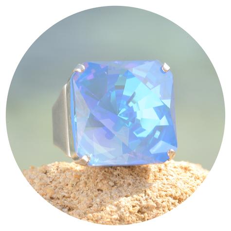 artjany Ring Kaleidoskop Square ocean deLite  - Copy