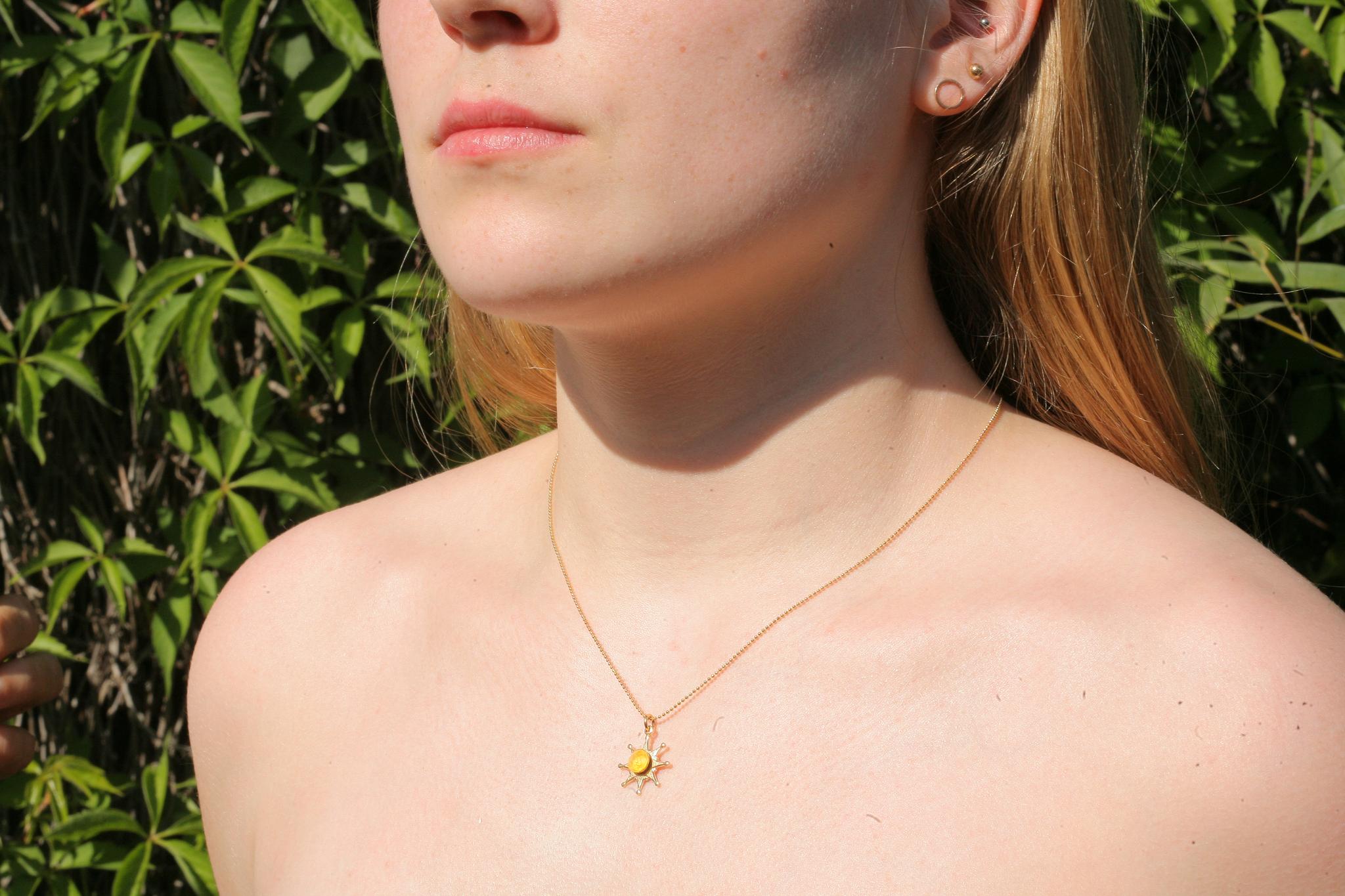 artjany vergoldete Halskette in buttercup