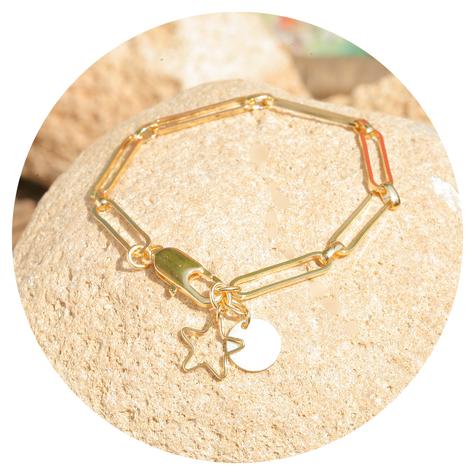 artjany vergoldetes  Stern & Mond Armband