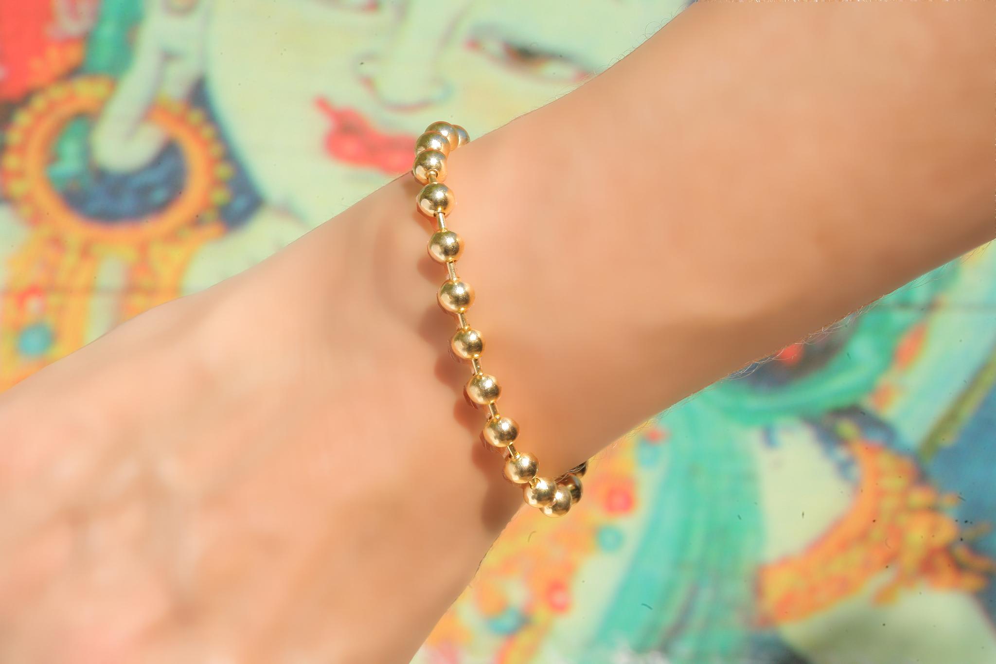 artjany vergoldetes Kugel Armband