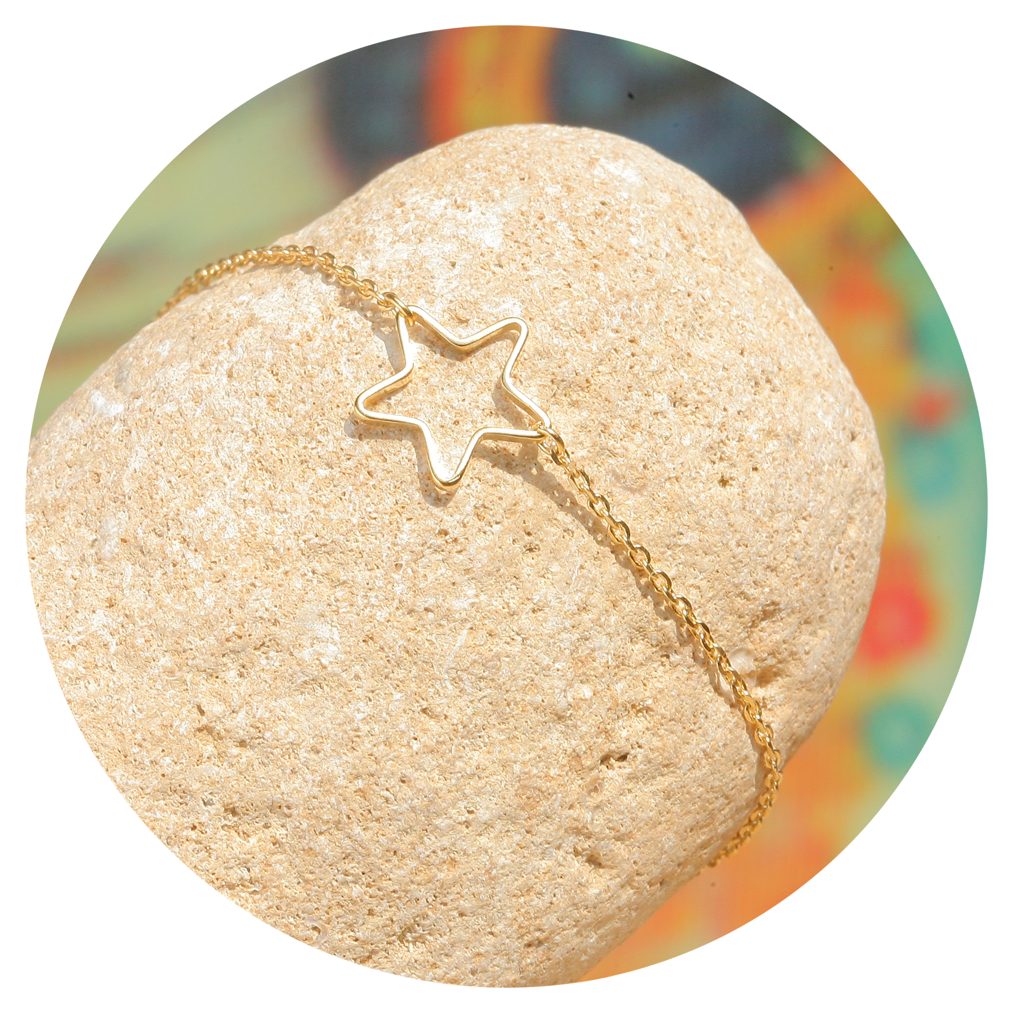 artjany vergoldetes  Stern Armband