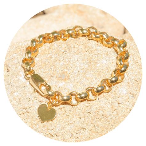 artjany vergoldetes  Armband mit einem Herz