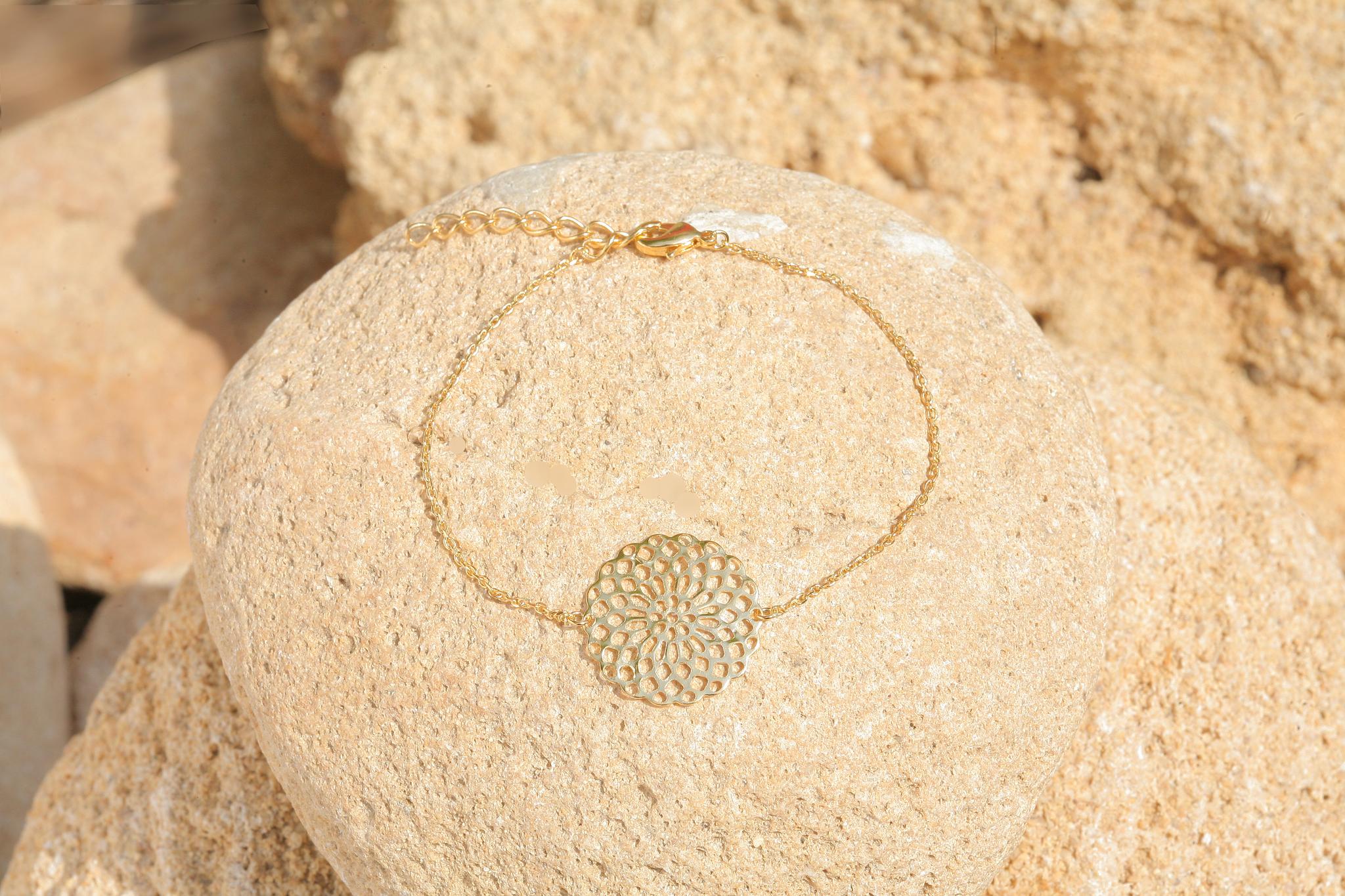 artjany vergoldetes  Mandala Armband