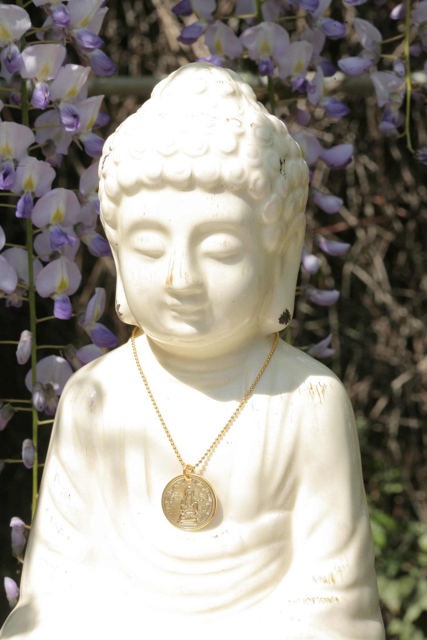 artjany vergoldete Buddha Kette