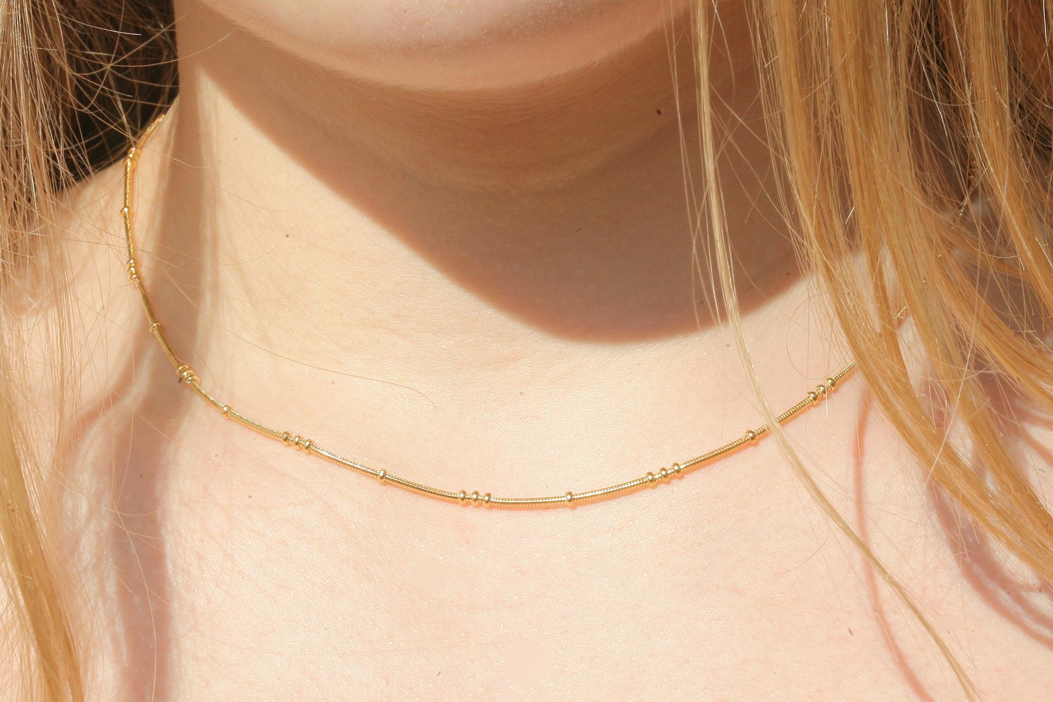 artjany vergoldete  Schlangenkette mit Kugeln