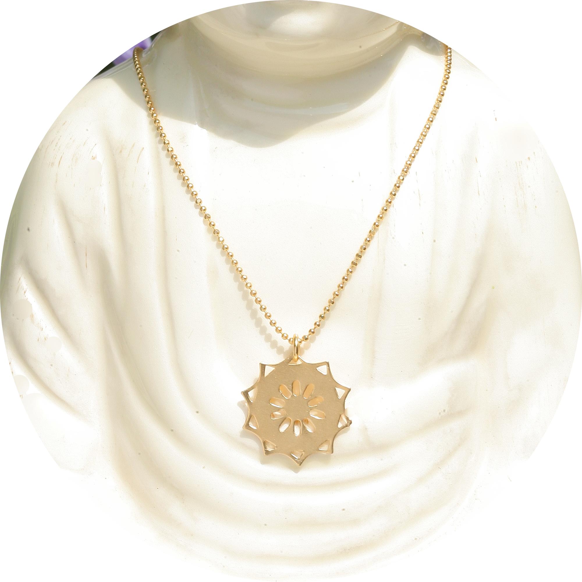 artjany vergoldete Halskette Mandala