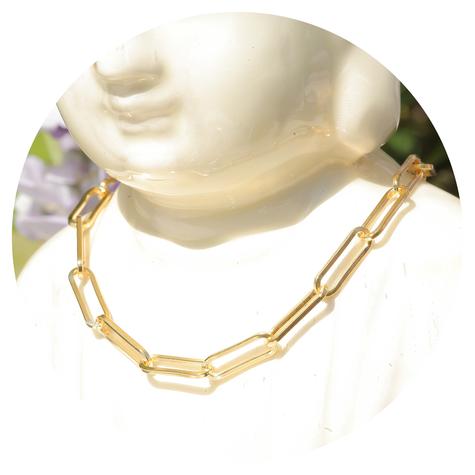 artjany vergoldete  Kette mit ovalen Gliedern - Copy