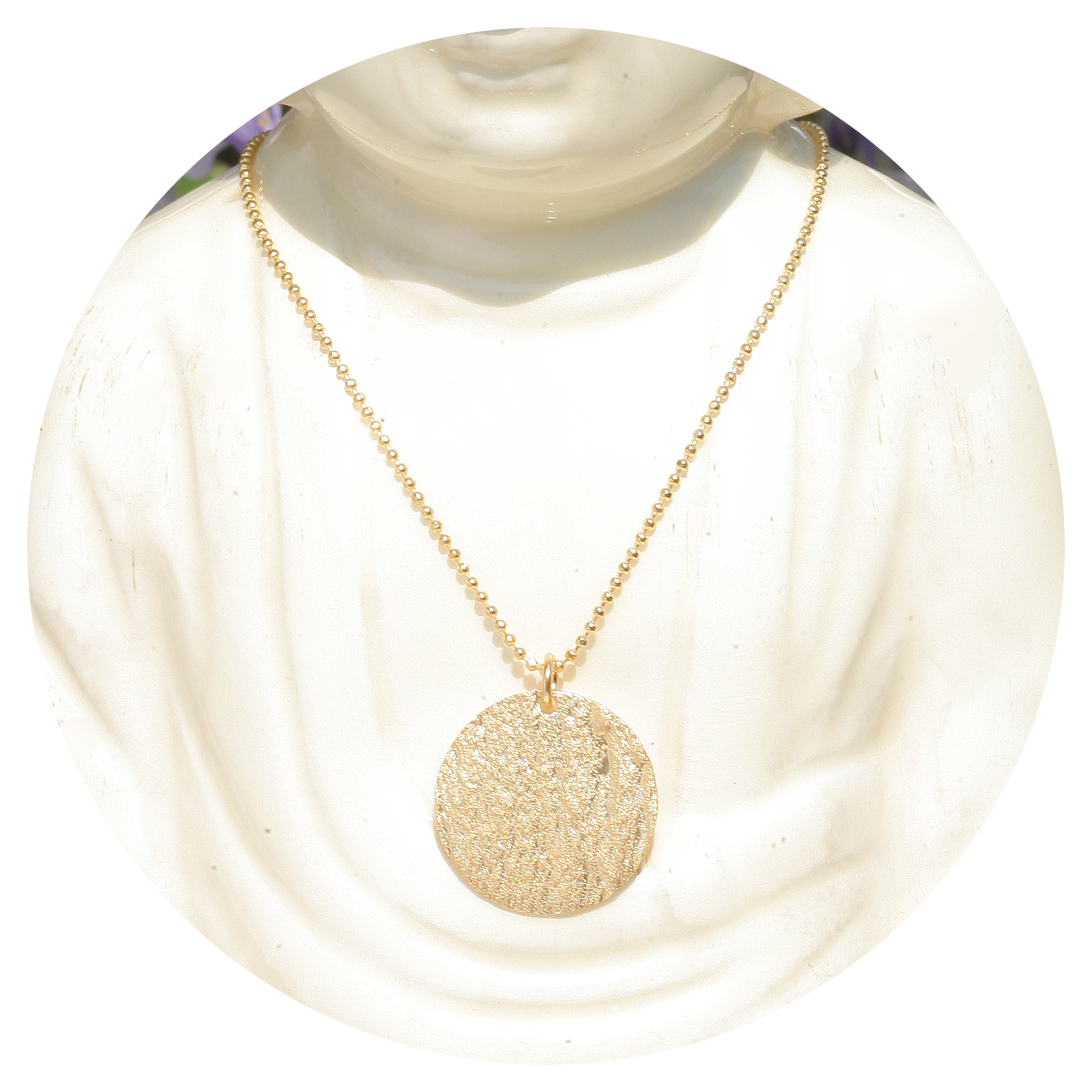 artjany vergoldete Halskette pattern disc