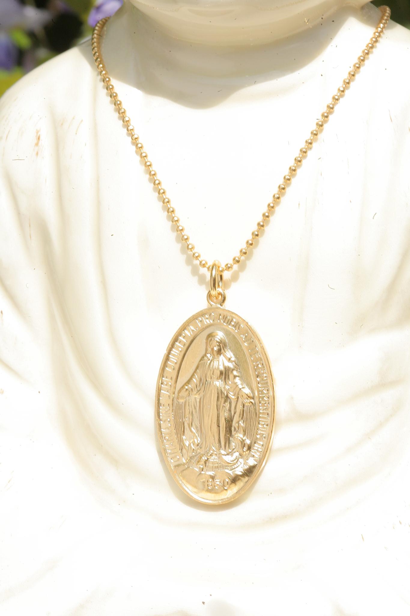 artjany vergoldete Mutter Gottes Halskette