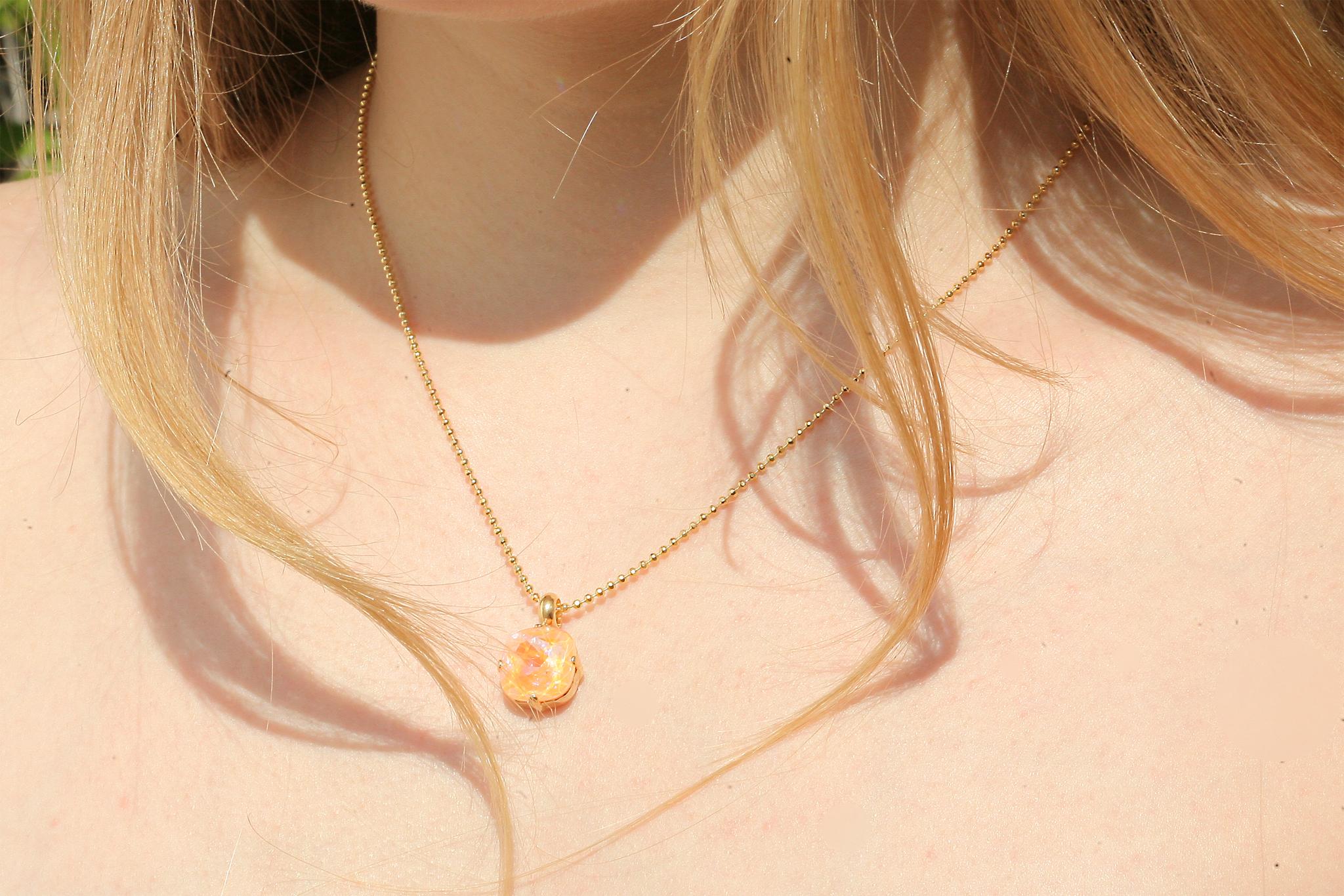 artjany vergoldete Halskette in peach deLite