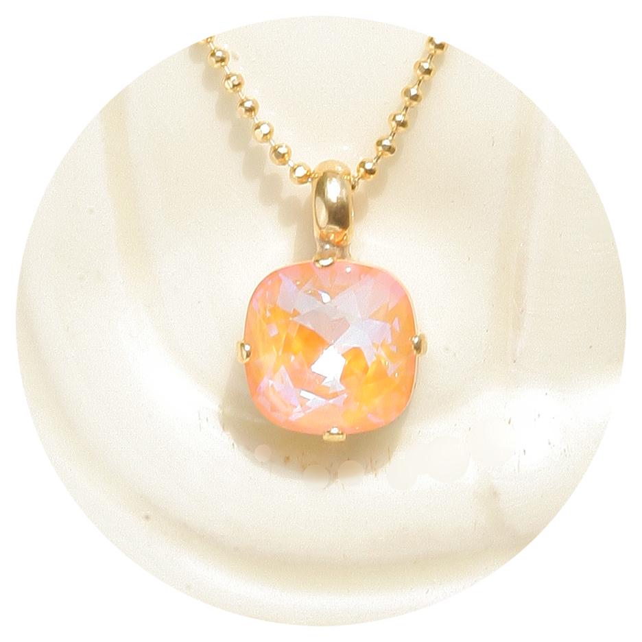 artjany Anhänger mit einem crystal in peach deLite