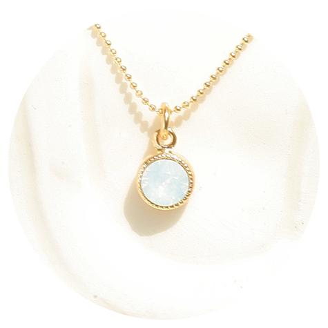 artjany Anhänger mit einem crystal in white opal