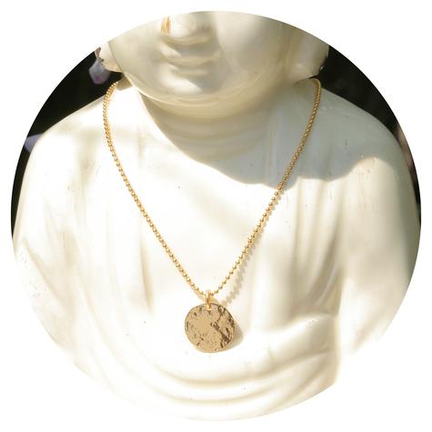 artjany vergoldete Halskette pattern disc klein