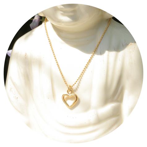 artjany vergoldete Halskette kleines Herz