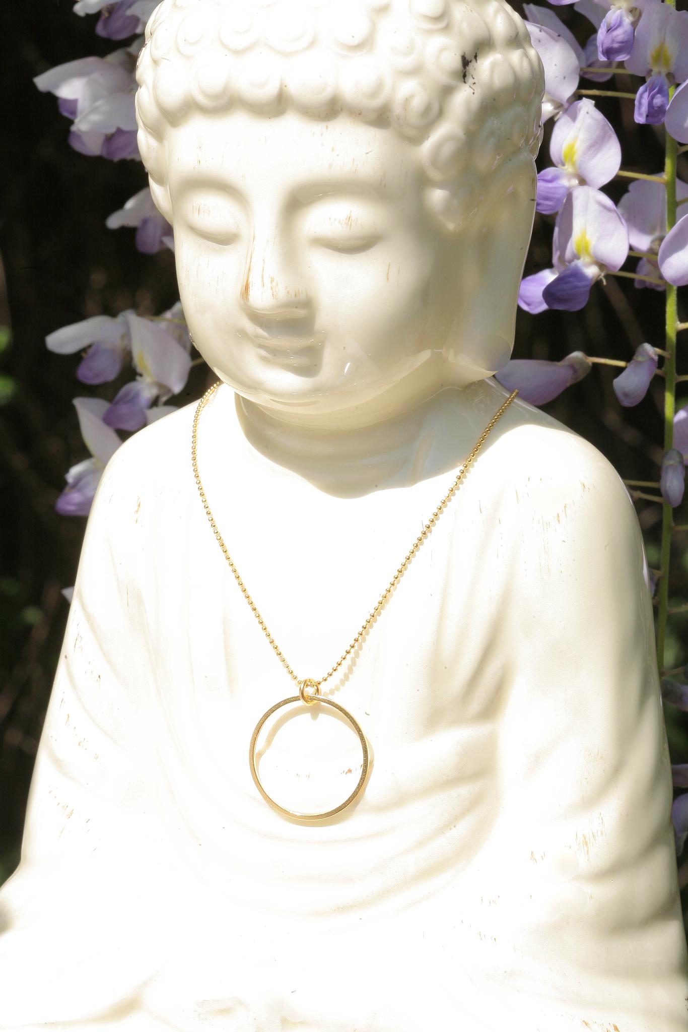artjany vergoldete Halskette Kreis